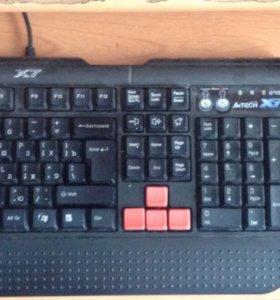 Игровой комплект ( клавиатура + мышь+коврик).