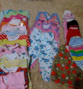 Одежда для девочки от 0 до 6 месяцев