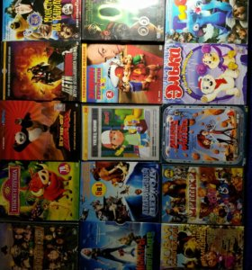 DVD мультики все рабочие,б/у