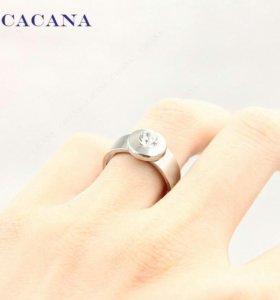 Новое серебристое кольцо