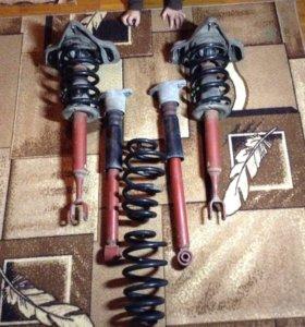 Амортизаторы с пружинами на Ауди а4