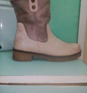 Полу ботинки,замша,40 размер