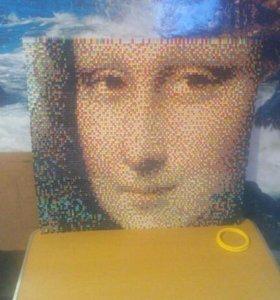 Портрет Мона Лизы в технике модульного оригами