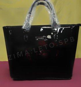 DKNY - сумка женская лакированная