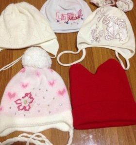 📌📌📌Продам шапочки для девочки до 1года