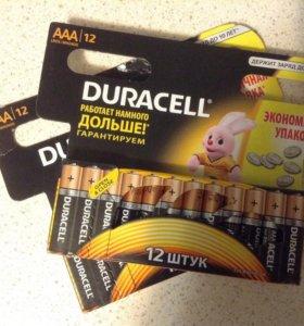 Батарейки Duracell AA и AAA 12 шт