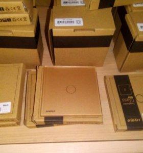 Сенсорный выключатель (золотой)