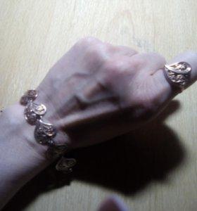 Комплект серебро с позолотой