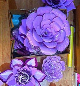 Цветы Помпоны Гофрированная бумага Праздник Топпер