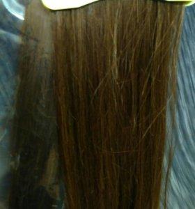 Натуральные волосы на лентах с имитацией