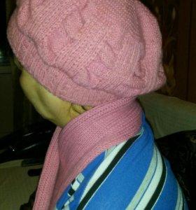 Зимний комплект (шапка +шарф )