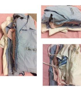 Женские Рубашки -пакетом (почти новые )