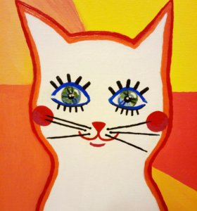 "Картина маслом ""Кошка Дуся"""