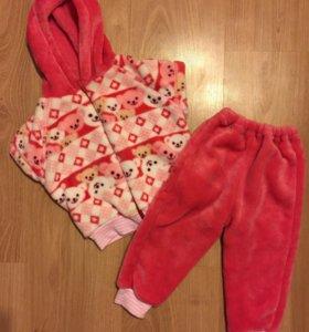 Новый плюшевый костюм для девочки