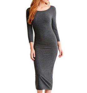 Продам новое серое платье