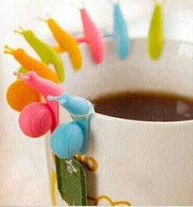 Улитки для держания пакетиков чая
