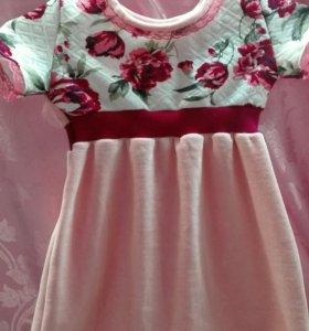 Платье из велюра новое