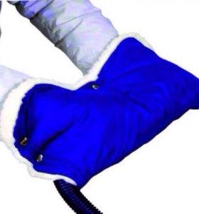 Меховая муфта на коляску/санки