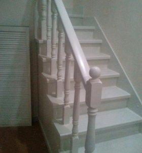 Металлокаркас, обшивка лестниц