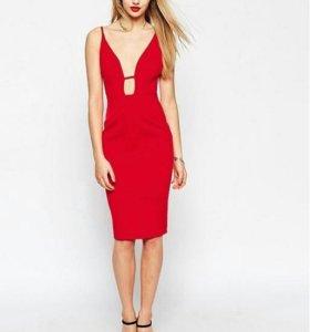 Красное облегающее платье ASOS
