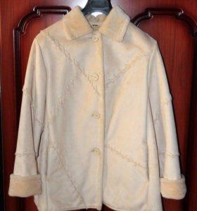 Куртка - дубленка, искуственный мех