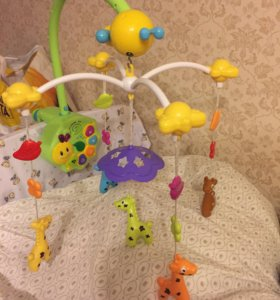 """Мобиль на кроватку """"Весёлые жирафики"""""""