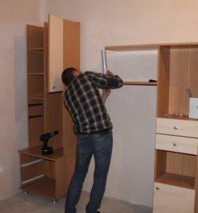 Сборка мебели , кухонь,вырезка отверстий