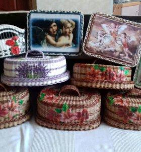 Плетеные хлебницы