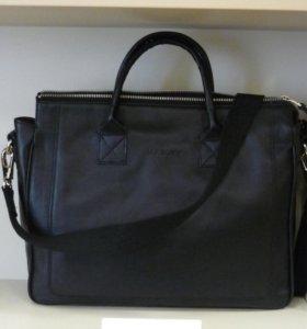 НОВАЯ сумка портфель Henry Black из натуральн кожи