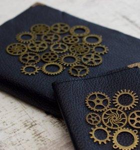 Блокнот + обложка для паспорта.Ручная работа