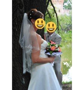 Фата,подъюбник к свадебному платью