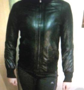 Куртка натуральная кожа + утеплённая