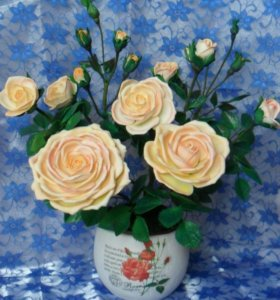 Кустовая роза из фоамирана