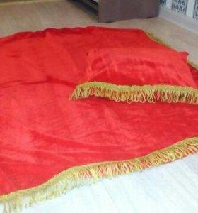 Покрывало и подушка для выставок собак мелких поро