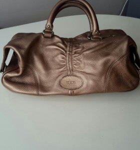 Новая кожаная сумка Tods