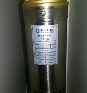 """Насос скважинный Акватек SP 3,5"""" 4-45 с кабелем 25"""