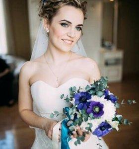 Свадебная прическа и макияж!