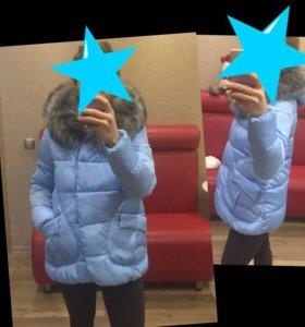 Новая! Тёплая зима -деми куртка