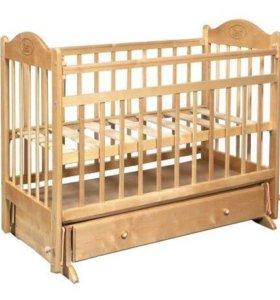 Кроватка детская с маятником Наша Мама