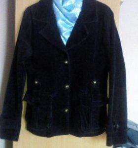 Пиджак микровельвет 46-50р.