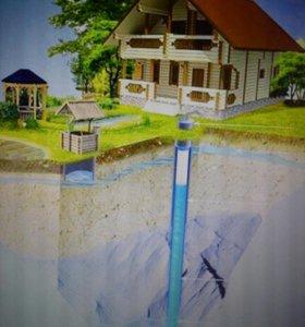 Бурение скважин на воду.Зимой и летом