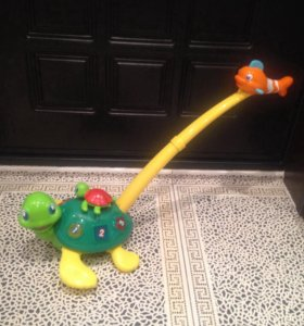 Музыкальная черепаха каталка