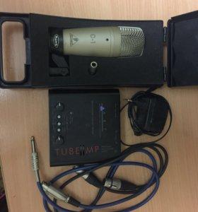 Студийным микрофон Behringer C-1 и предусилитель