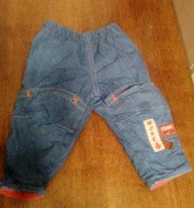 Джинсовые утепленые штанишки