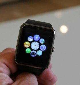 Умные часы GT08 smart watch, черные, черн. ремешок