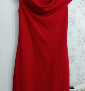 Красное платье ostin