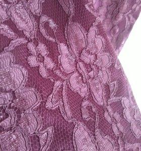 Платье ежевичное