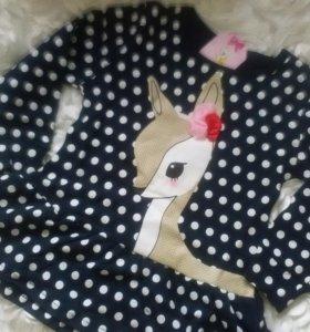 Новое платье в горошек туника