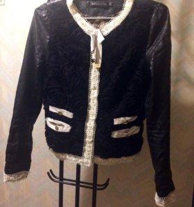 Куртка ветровка кожанка