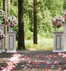 Оформление свадебных торжеств,юбилеев